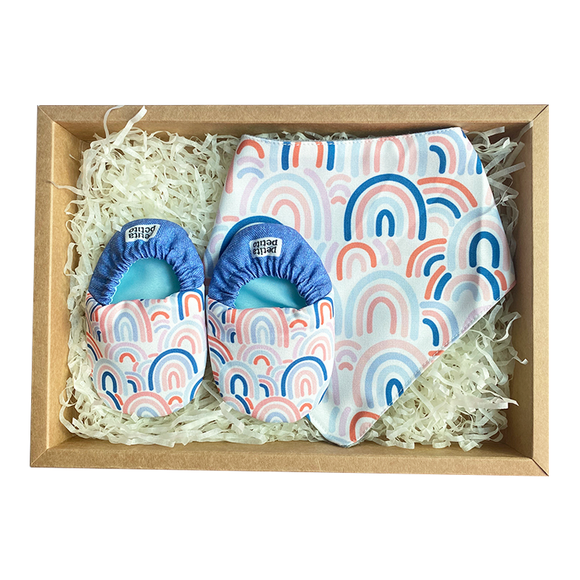 BIB x MINI SHOES GIFT SET - DENIM RAINBOW - WERONE