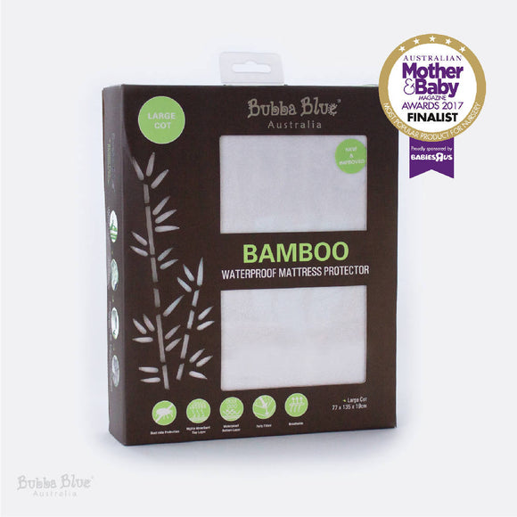 Bubba Blue Bamboo Waterproof Mattress Protector – Large
