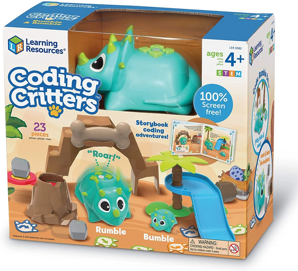 Learning Resources LER3082 Coding Critters Rumble & Bumble