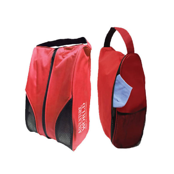 Adventure World Shoe Bag With Compartment and Mesh Netting (Red)
