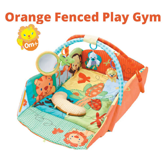 Shears Play Gym Activity 4 Side Fence & Pad SPG9606 ORANGE