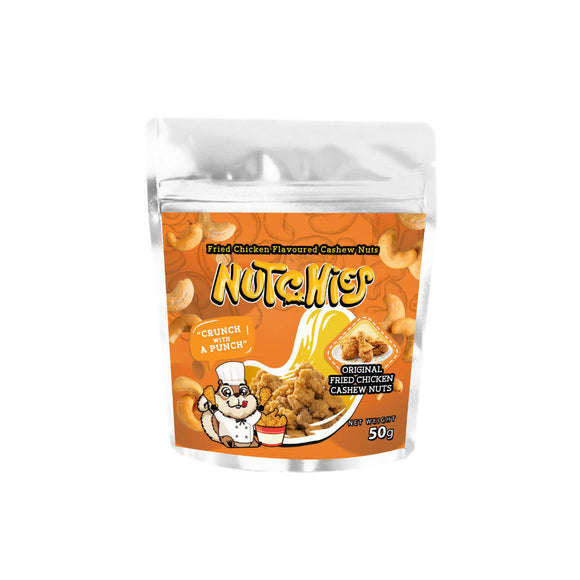 Nutchies Original Fried Chicken Flavoured Cashew Nuts 50g - WERONE