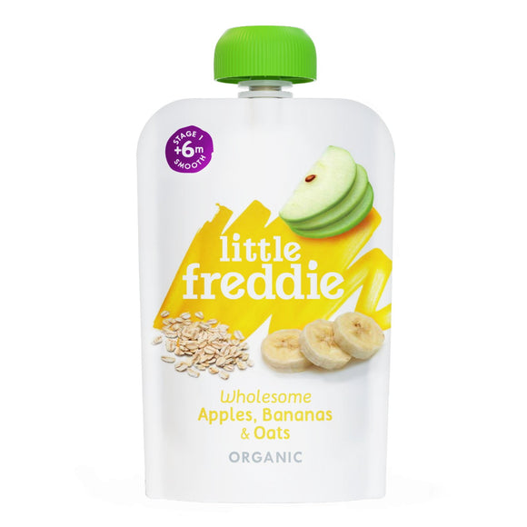 Little Freddie Wholesome Apples , Bananas & Oats - 100g - WERONE