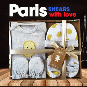 Shears Amour Gift Set 4 PCS Gift Set Grey Cute Yellow Chick SGA4C