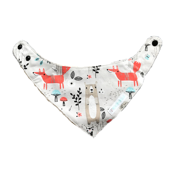 BANDANA BIB // FOREST FRIENDS