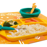 Marcus & Marcus Silicone Divided Plate - Lola - WERONE