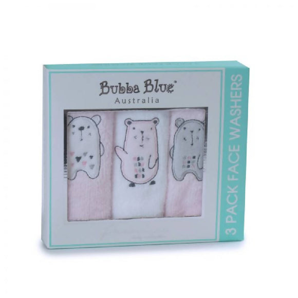 Bubba Blue Beary Sweet 3pc Facewasher - WERONE