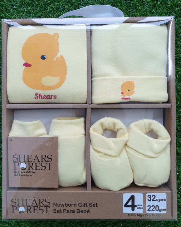 Shears Purest Baby Gift Set Yellow Duck - WERONE