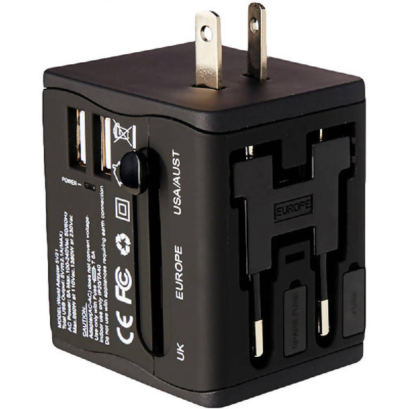 Adventure World Universal Travel Adapter (Black) - WERONE