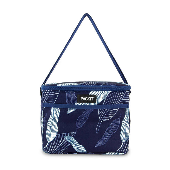 PackIt Freezable Everyday Lunch Box, Navy Leaves (NEW 2020) - WERONE