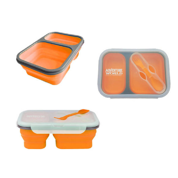 Adventure World Foldable Lunchbox (Orange) - WERONE