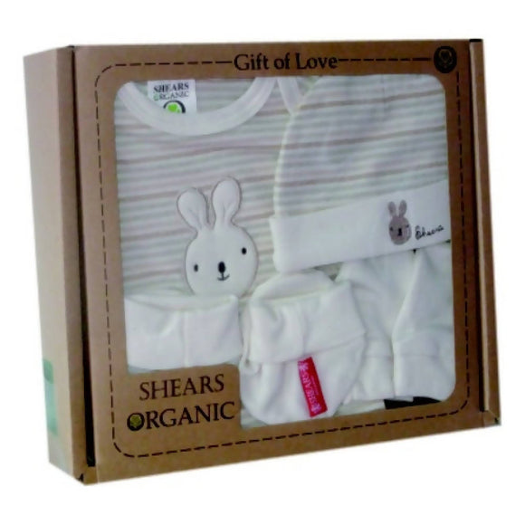 Shears Baby Gift Set 4pcs Organic Rabbit - WERONE