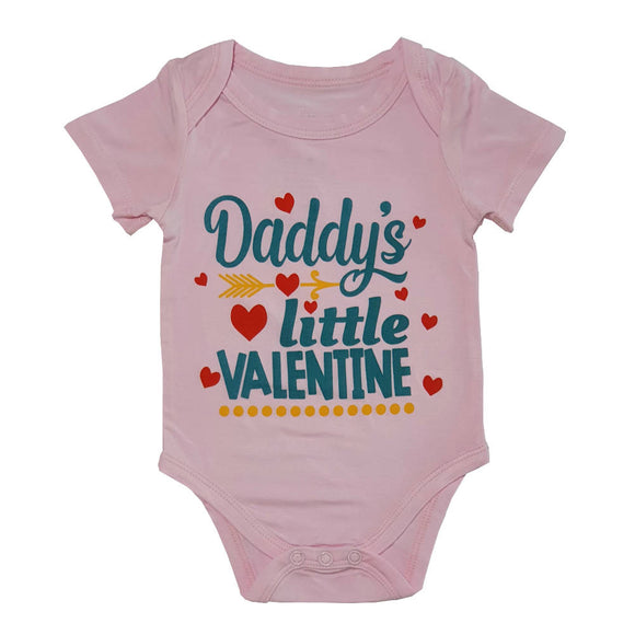 Bebe Bamboo Cute Saying Onesie - Daddys Little Valentine - WERONE