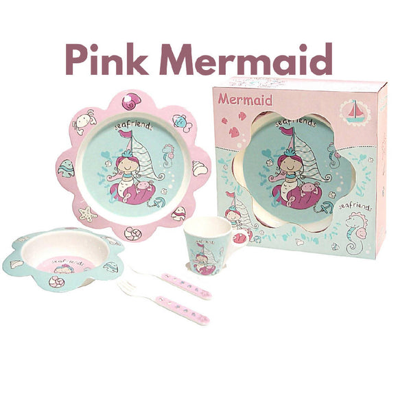 Shears Baby Feeding Set Melamine 5pcs Set Pink Mermaid