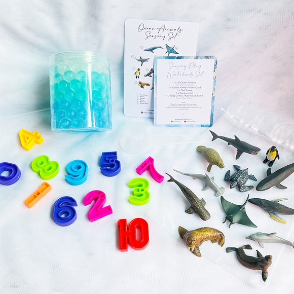 SENSORY PLAY WATERBEADS SET // OCEAN