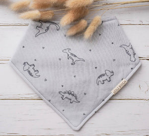 Little Stitch Double Gauze Dino Bibdana - WERONE
