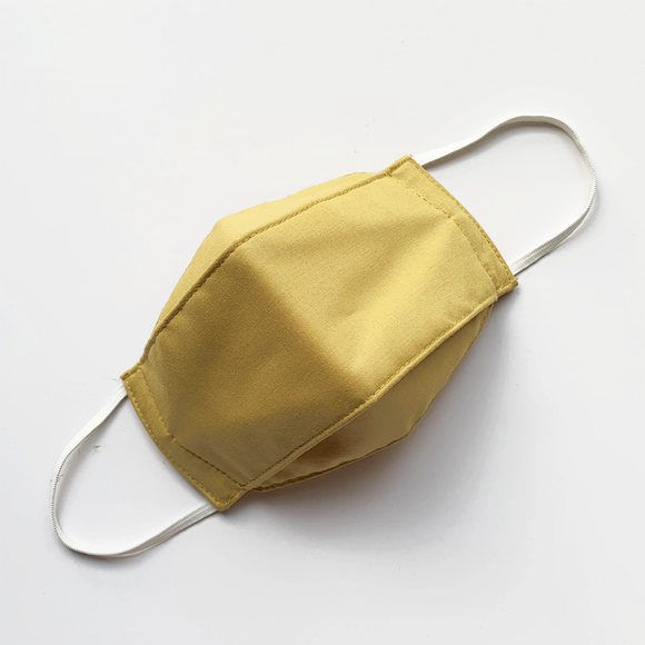 3-PLY MASK // ORIGAMI IN MUSTARD