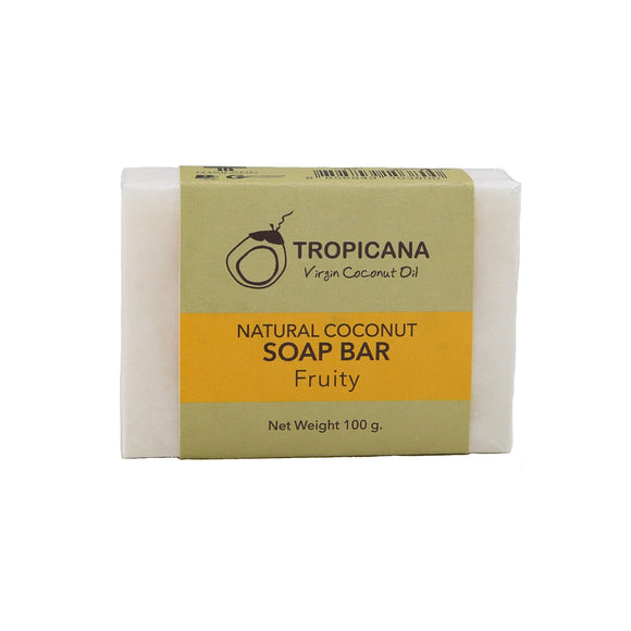 Tropicana Organic Cold Pressed (Application) Natural Coconut Soap Bar - Fruity -100g - WERONE