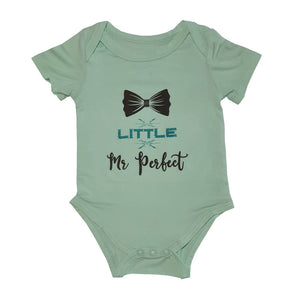 Bebe Bamboo Cute Saying Onesie - Little Mr Perfect - WERONE