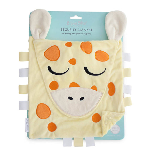 Bubba Blue Zoo Animals 'Giraffe' Security Blanket - WERONE