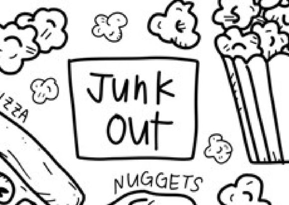 Junk Out Silicone Colouring Mat