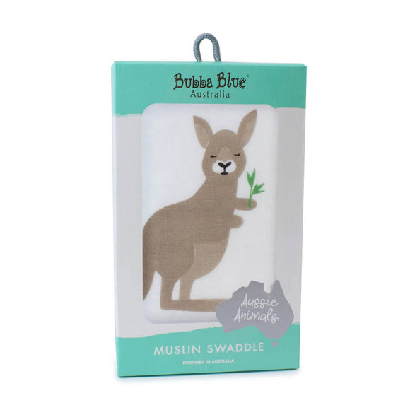 Bubba Blue Aussie Animals 'Kangaroo' Muslin Wrap