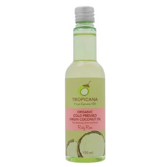 Tropicana Organic Cold Pressed. (Application) Virgin Coconut Oil- Ruby Rose- 100ml. - WERONE