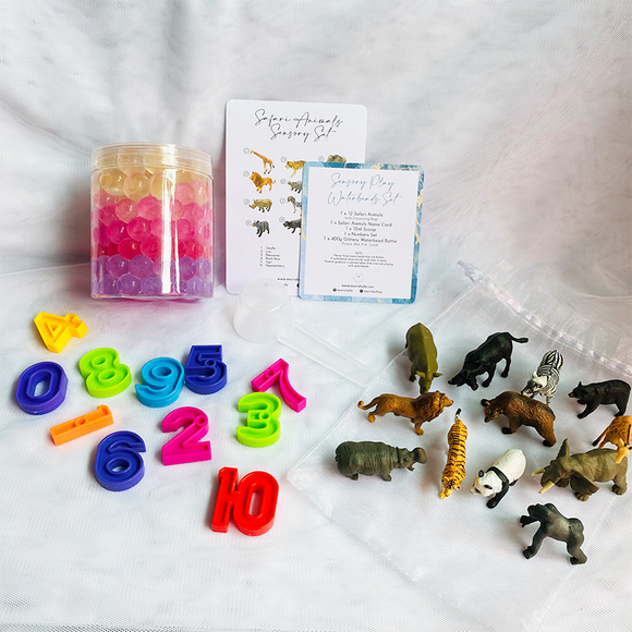 SENSORY PLAY WATERBEADS SET // SAFARI