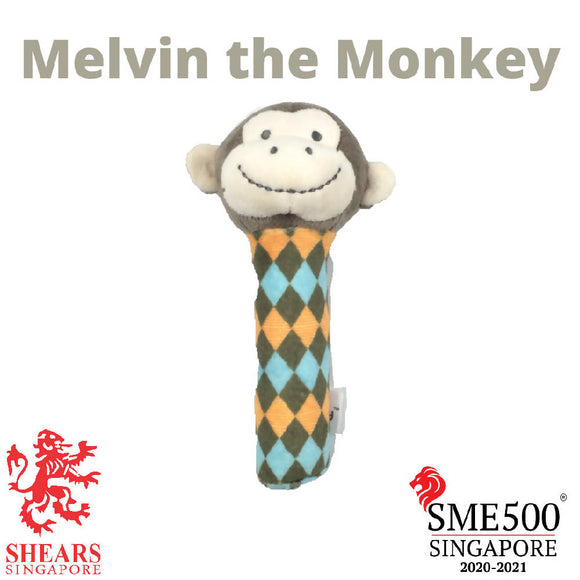 Shears Animal Squeaker Toy Melvin the Monkey