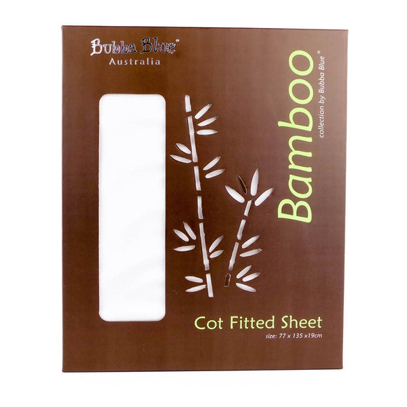 Bubba Blue Bamboo Cot Fitted Sheet - WERONE