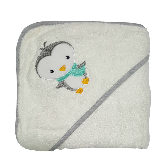 Bebe Bamboo Hooded Towel - Penguin - WERONE
