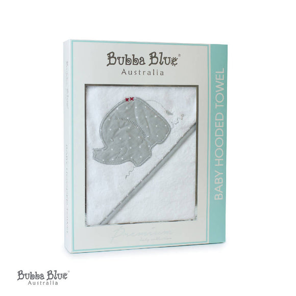 Bubba Blue Petit Elephant Hooded Towel - WERONE