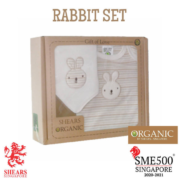 Shears Gift Set Organic 2 PCS GiftSet Rabbit SGO2PCR