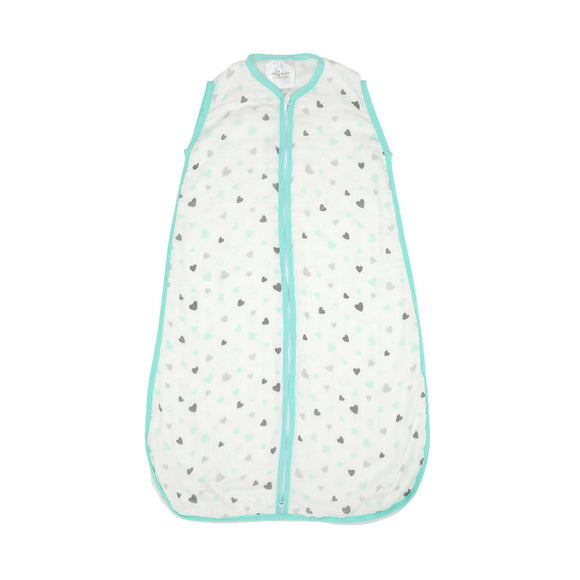 Bebe Bamboo Muslin Sleeping Bag - Hearts Size M - WERONE