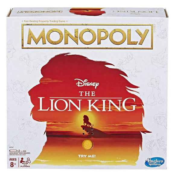 Monopoly Game Disney The Lion King Edition Family Board Game - WERONE