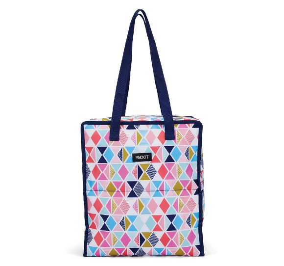 PackIt Grocery Bag Tote Bag, Festive Gem - WERONE