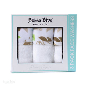 Bubba Blue Utopia 3PK Velour Face Washers - WERONE