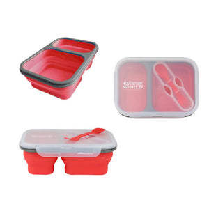 Adventure World Foldable Lunchbox (Red) - WERONE