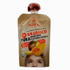 AMA Time Organic Apple, Banana & Butternut Puree (6m+) - WERONE
