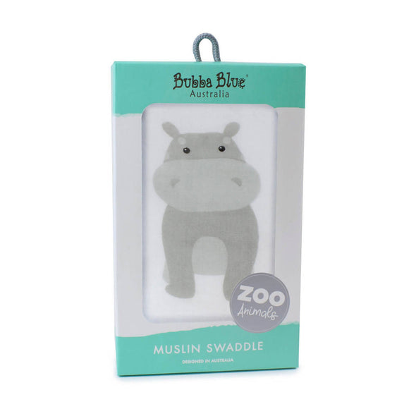 Bubba Blue Zoo Animals 'Hippo' Muslin Wrap