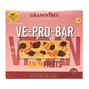 Granovibes VE-Pro-Bar [Mixed Fruits] 40g x 6 - WERONE