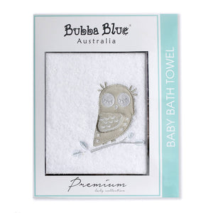 Bubba Blue Mod The Owl Velour Hooded Towel - WERONE