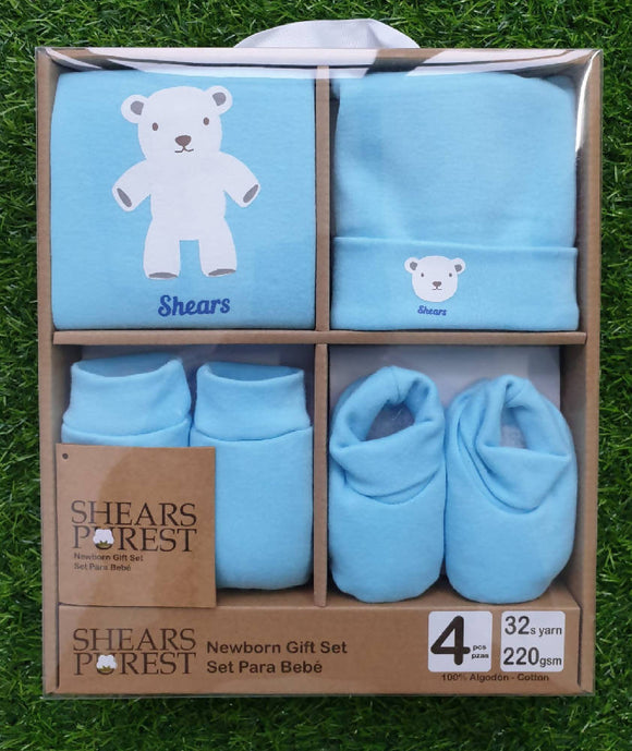 Shears Purest Baby Gift Set Blue Bear - WERONE