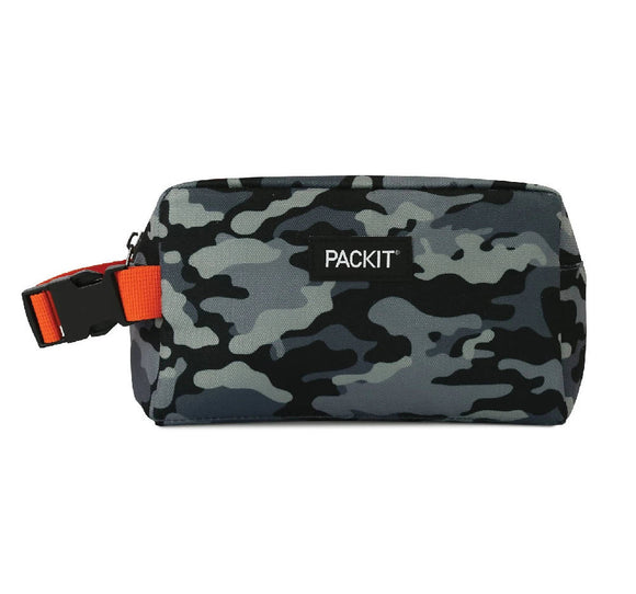 PackIt Freezable Snack Box Bag, Charcoal Camo