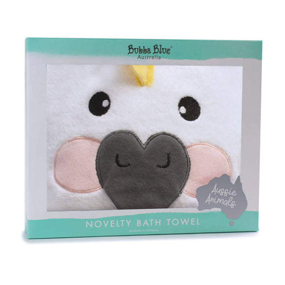 Bubba Blue Aussie Animals Novelty Hooded Bath Towel – Cockatoo - WERONE