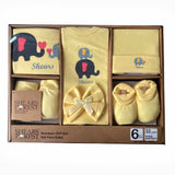 Shears Purest Gift Set 6pcs Baby Gift Set Yellow Elephant SGP6YE