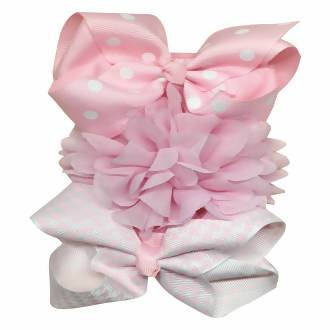 Shears Baby Infant Headband Toddler Lace Headdress Pink Ribbon - WERONE