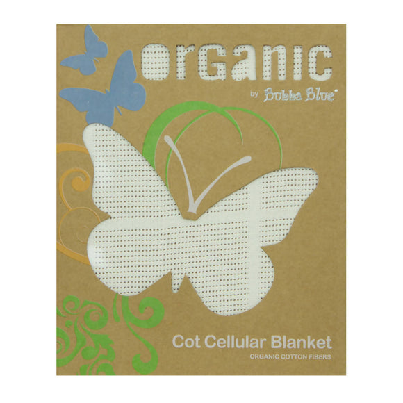 Bubba Blue Organic Cotton Cot Cellular Blanket - WERONE