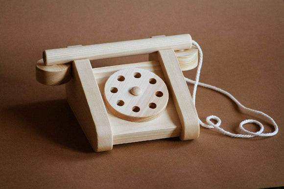 Old Fashion Wooden Telephone Toy