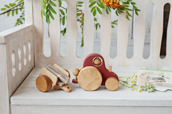 Vintage Wooden Tractor [Preorder May]